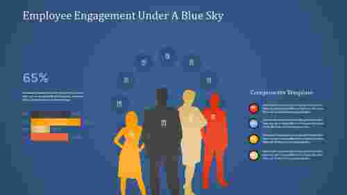employee engagement powerpoint-Employee Engagement Under A Blue Sky